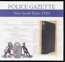 New South Wales Police Gazette 1920