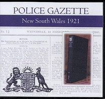 New South Wales Police Gazette 1921