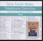 New South Wales Telephone Directory 1958: Section 5, Western Districts
