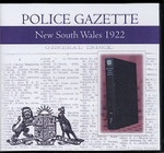 New South Wales Police Gazette 1922