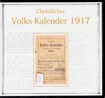 Christlicher Volks-Kalendar 1917