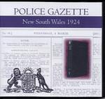 New South Wales Police Gazette 1924