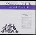New South Wales Police Gazette 1925