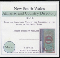 New South Wales Almanac and Country Directory 1854 (Moore)