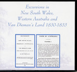 Excursions in New South Wales, Western Australia and Van Dieman's Land 1830-33
