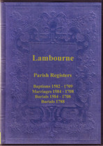 Essex Parish Registers: Lambourne 1582-1788