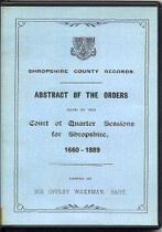 Shropshire Quarter Sessions 1660-1889