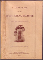 A Companion to the Rugby School Register, Warwickshire 1675-1870