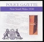 New South Wales Police Gazette 1930