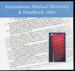 Australasian Medical Directory and Handbook 1900