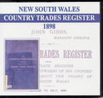 New South Wales Country Trades Register 1898