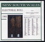 New South Wales State Electoral Roll 1903