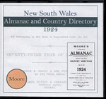 New South Wales Almanac and Country Directory 1924 (Moore)