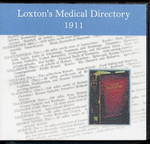Loxton's Medical Directory 1911