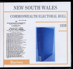 New South Wales Commonwealth Electoral Roll 1939 Barton