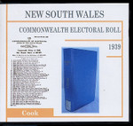 New South Wales Commonwealth Electoral Roll 1939 Cook