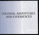 Colonial Adventures and Experiences