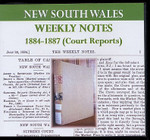 New South Wales Weekly Notes 1884-87 (Court Reports)