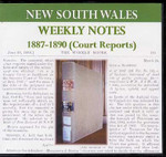 New South Wales Weekly Notes 1887-90 (Court Reports)