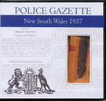 New South Wales Police Gazette 1937