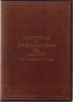 Constitutions of Free and Accepted Masons 1884