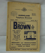 Queensland Telephone Directory 1959: Northern Districts (original)