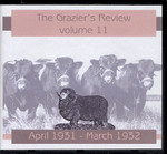 The Grazier's Review Volume 11: April 1931-March 1932