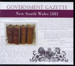 New South Wales Government Gazette 1881