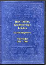 London Parish Registers: Knightsbridge (Holy Trininty) 1658-1681
