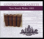 New South Wales Government Gazette 1883