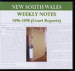 New South Wales Weekly Notes 1896-1898 (Court Reports)