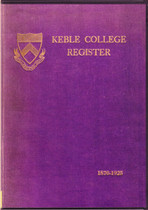 Keble College Register, Oxford, Oxfordshire
