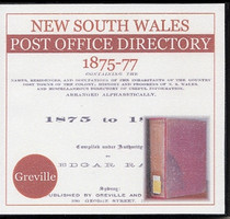 New South Wales Post Office Directory 1875-77 (Greville)