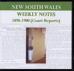 New South Wales Weekly Notes 1898-1900 (Court Reports)