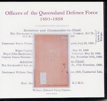 Officers of the Queensland Defence Force 1891-1898