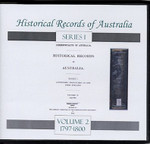 Historical Records of Australia Series 1 Volume 2