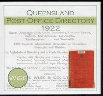 Queensland Post Office Directory 1922 (Wise)