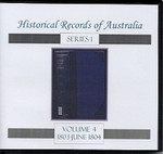 Historical Records of Australia series 1 Volume 4