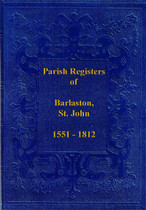 Staffordshire Parish Registers: Barlaston, St John 1551-1812
