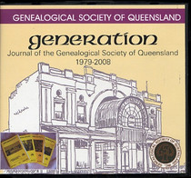 Genealogical Society of Queensland: Generation Journal 1979-2008 and News Letters 1979-1989