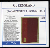 Queensland Commonwealth Electoral Roll 1939 Griffith