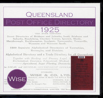 Queensland Post Office Directory 1925 (Wise)