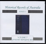 Historical Records of Australia Series 1 Volume 7