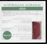 Australian Almanac 1866 (Sherriff)