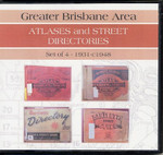 Greater Brisbane Area Atlases and Street Directories 1931-c1948 (set of 4)
