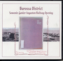 Barossa District: Souvenir, Gawler-Angaston Railway Opening