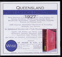 Queensland Post Office Directory 1927 (Wise)