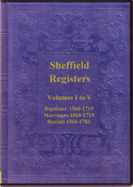 Yorkshire Parish Registers: Sheffield 1560-1719