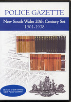 New South Wales Police Gazette 20th Century Set 1901-1938