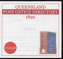 Queensland Post Office Directory 1892 (Weatherill)